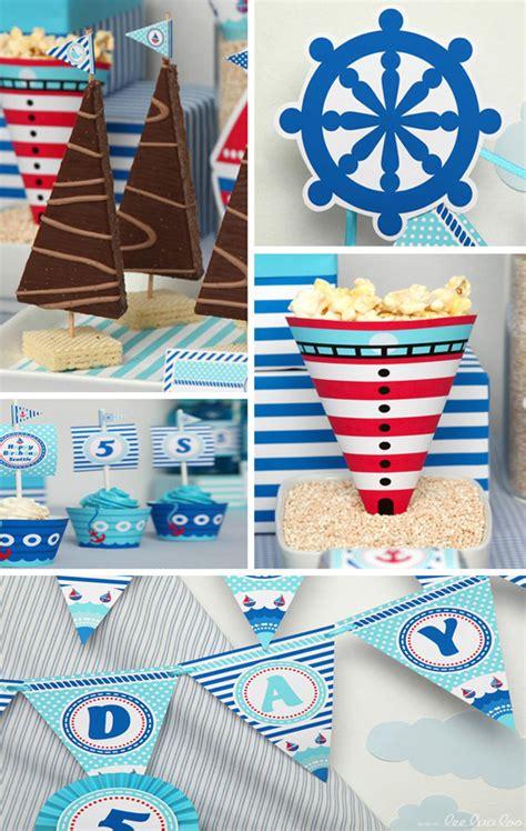 Kara's Party Ideas Nautical Sailboat Birthday Party