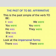 This Is The Past Simple Of The Verb To Be  презентация онлайн