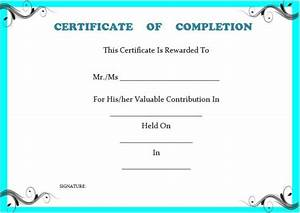 certificate of completion template 55 word templates With certificate template for project completion