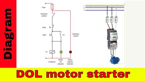 wire  contactor direct   motor starter