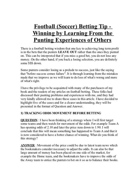 Football betting format questions and answers teach ...