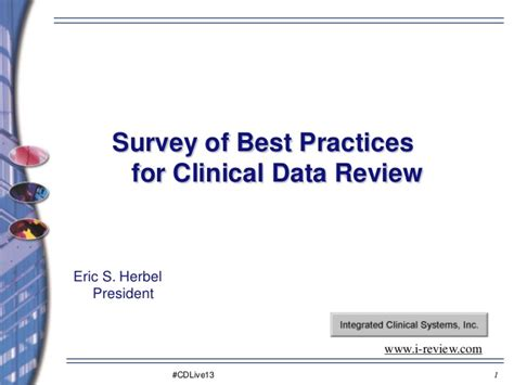 Clinical Data Review Best Practices  E Herbel