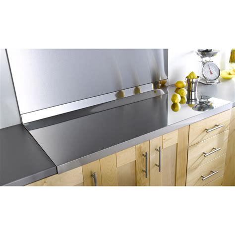 protection plan de travail cuisine plan de travail inox brillant l 120 x p 60 cm ep 42 mm