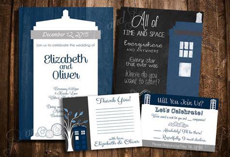 Doctor Who Tardis  Ee  Wedding Ee    Ee  Invitation Ee   Set Alized