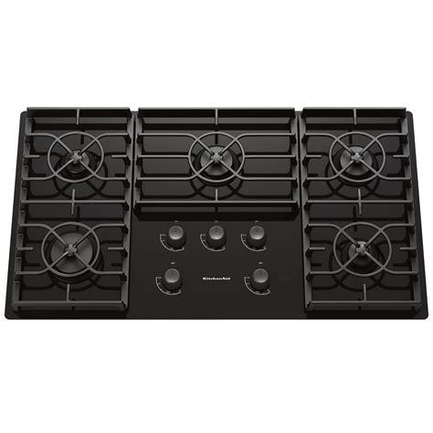 ceramic cooktop kitchenaid kgcc566rbl 36 quot gas ceramic glass conventional cooktop w sealed burners black