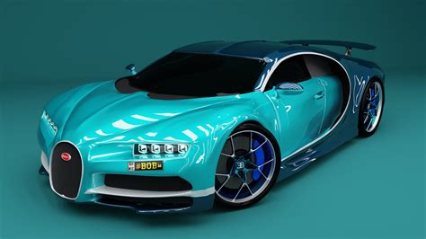 It consists of over 50k polygons. Bugatti Chiron Car model | CGTrader