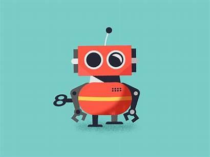 Robot Animated Gifs Robots Animation Dribbble Motion
