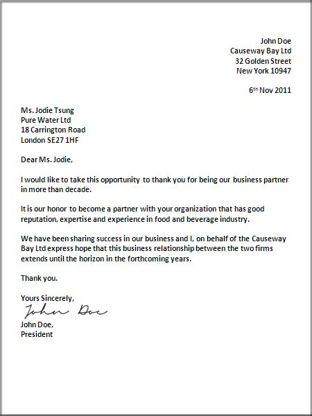uk business letter format letter business letter