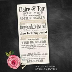 love story infographic wedding invitations southbound bride With wedding invitation wording love story