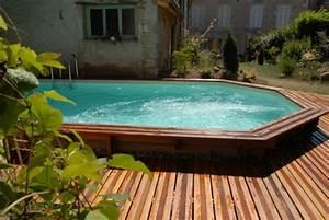 piscine semi enterree conseils prix installation With exceptional terrasse en bois pour piscine hors sol 2 enterrees hors sol semi enterrees des piscines bois