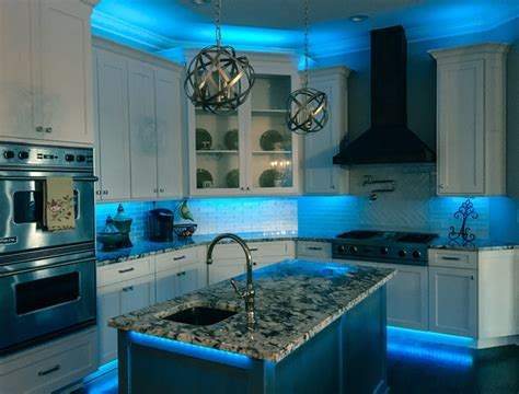 Cabinet Accent Lighting Ideas by Rgb Led Light 32 Foot Kit Led Kitchen Lighting
