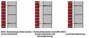 Zweischaliges Mauerwerk Mit Luftschicht : konstruktion von zweischaligen au enw nden klinkerkultur ~ Frokenaadalensverden.com Haus und Dekorationen