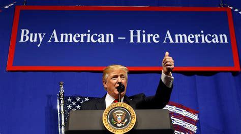 buy american hire american  worrisome slogan piie