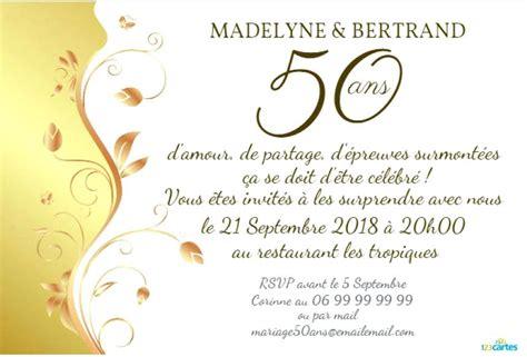 carte anniversaire de mariage 50 ans petit mot pour anniversaire 50 ans de mariage radio zero six