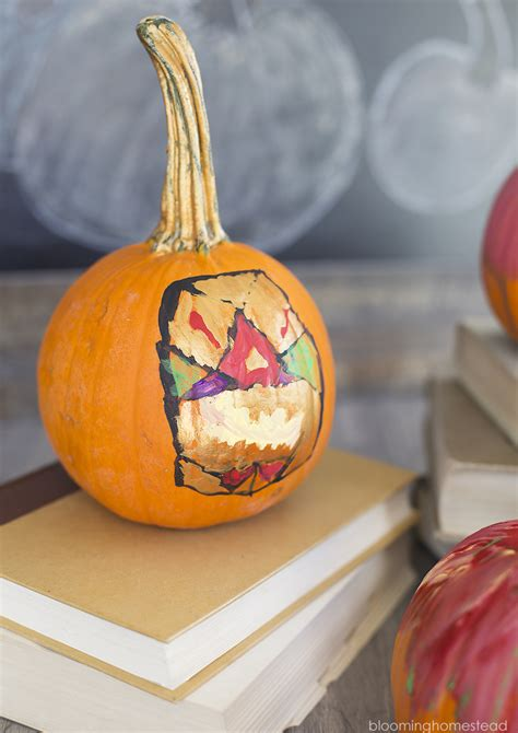 diy pumpkins diy painted pumpkins blooming homestead