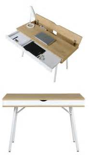 table bureau moderne esprit nordique tiroir rangement