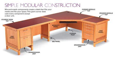 build a wooden desk how to build a modular desk system free diy desk plans