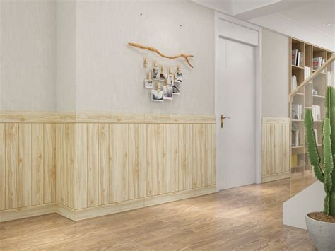 ubah tampilan dinding  wallpaper foam  motif kayu