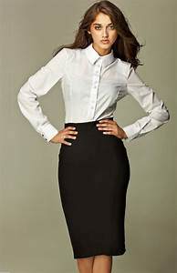Professional Look Black Pencil Skirt fmag
