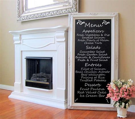 chalkboard room decor dining room decor wall art french furniture chalkboard long blackboard 56 quot x32 quot tall narrow