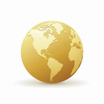 Globe Golden Gold America Vector Clip Map