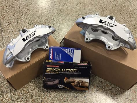 2009-12 Cadillac Cts-v Brembo Silver 6 Piston Front