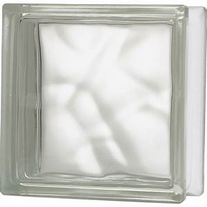 Brique de verre transparent ondule brillant leroy merlin for Carreau de verre leroy merlin