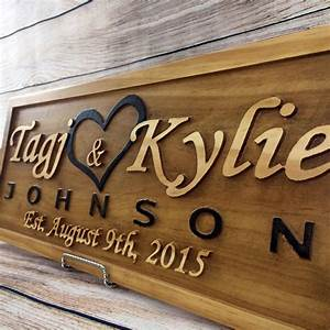 buy a hand made wedding gift wedding sign anniversary gift With wedding gift name sign