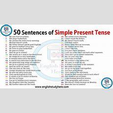 50 Sentences Of Simple Present Tense  English Study Here