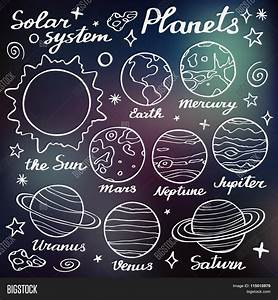 Planets Set. Hand-drawn Cartoon Vector & Photo | Bigstock