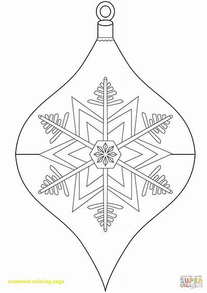 Coloring Ornament Printable Ornaments Crayola Santa Cards