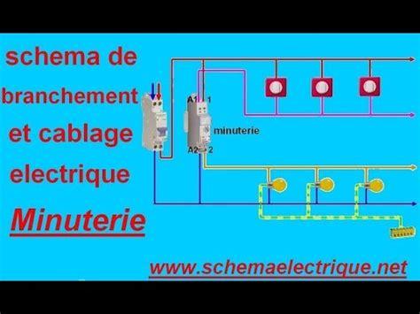 schema branchement cablage minuterie youtube