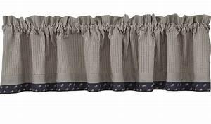 Jamestown Lined Border Curtain Valance