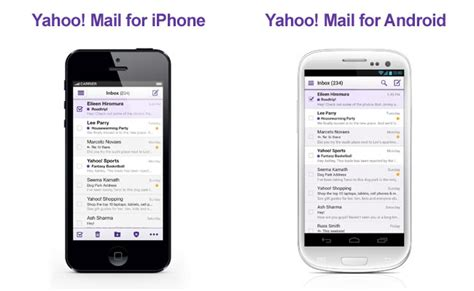 yahoo mail app for android yahoo mail gets an overhaul for ios android and windows