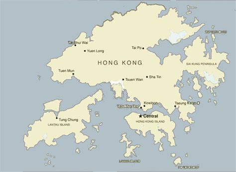 hong kong maps attractions streets roads  transport map