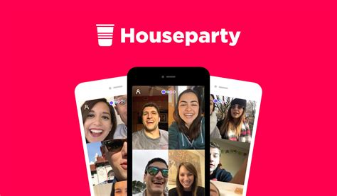houseparty app  ios  android lets  group video