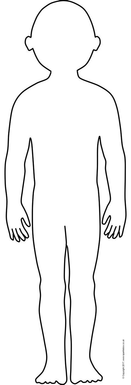 giant human body outlines  display sb sparklebox