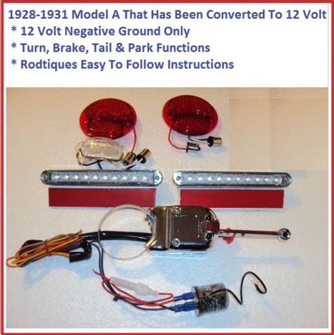 1928 Ford Model A Wiring by 1928 1931 Ford 12 Volt Model A Led Turn Signal Kit Lights