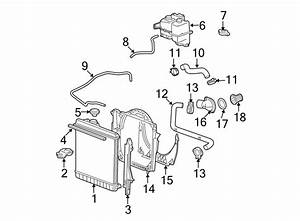 Gmc Canyon Engine Coolant Reservoir Hose  2 8  U0026 2 9 Liter