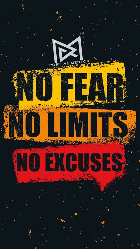 fear  limit  excuses positive mentor