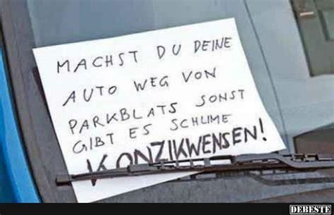 machst du deine auto weg von parkblats lustige bilder