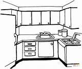 Colorear Dibujos Cocina Dibujo Coloring sketch template
