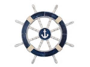 Wood Starfish Wall Decor by Buy Rustic Dark Blue Decorative Ship Wheel With Anchor 18