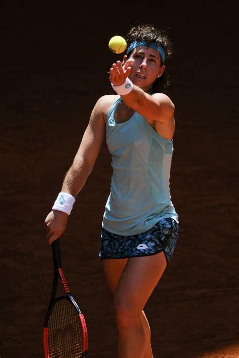 Carla suarez navarro is back hitting on a tennis court as she undergoes cancer treatment. Carla Suarez Navarro - Mutua Madrid Open in Madrid 05/06/2018