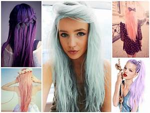 Couleur Cheveux Pastel : cheveux couleur bleu pastel coupes de cheveux et coiffures ~ Melissatoandfro.com Idées de Décoration