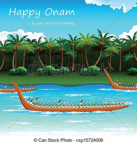 Onam Boat Icon by Illustration Of Boat Race Of Kerla On Onam