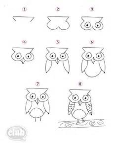 Easy Drawings to Draw Owl Step by Step