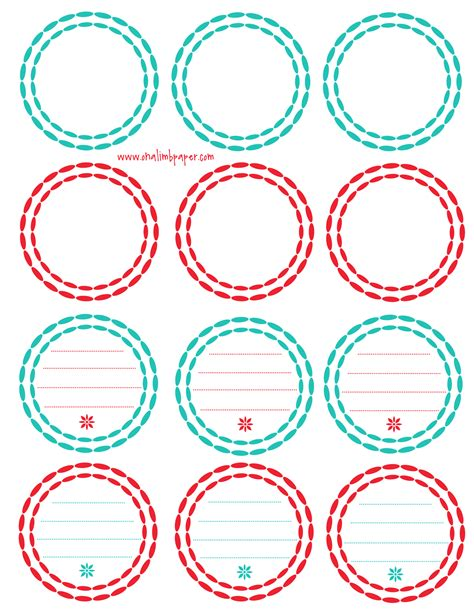 6 best images of printable labels free printable labels