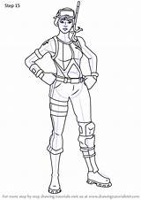Fortnite Ops Snorkel Draw Step Drawing Tutorials Drawingtutorials101 Games sketch template