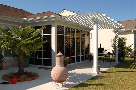 sunroom attached to house how to build a shade canopy frame to a deck us aluminum